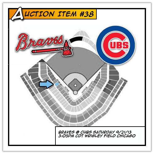 Two tickets to see the Atlanta Braves at Chicago Cubs