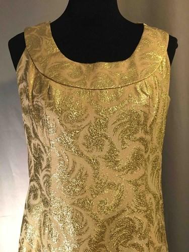 034a3b63e0 #028 1960's Long Gold Brocade Dress ()
